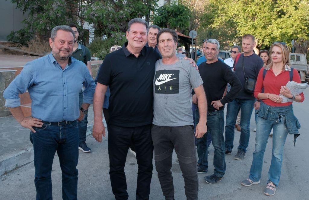 Περιοδεία του υποψήφιου περιφερειάρχη Μανώλη Γλυνού σε  Ψίνθο, Αρχίπολη, Κοσκινού