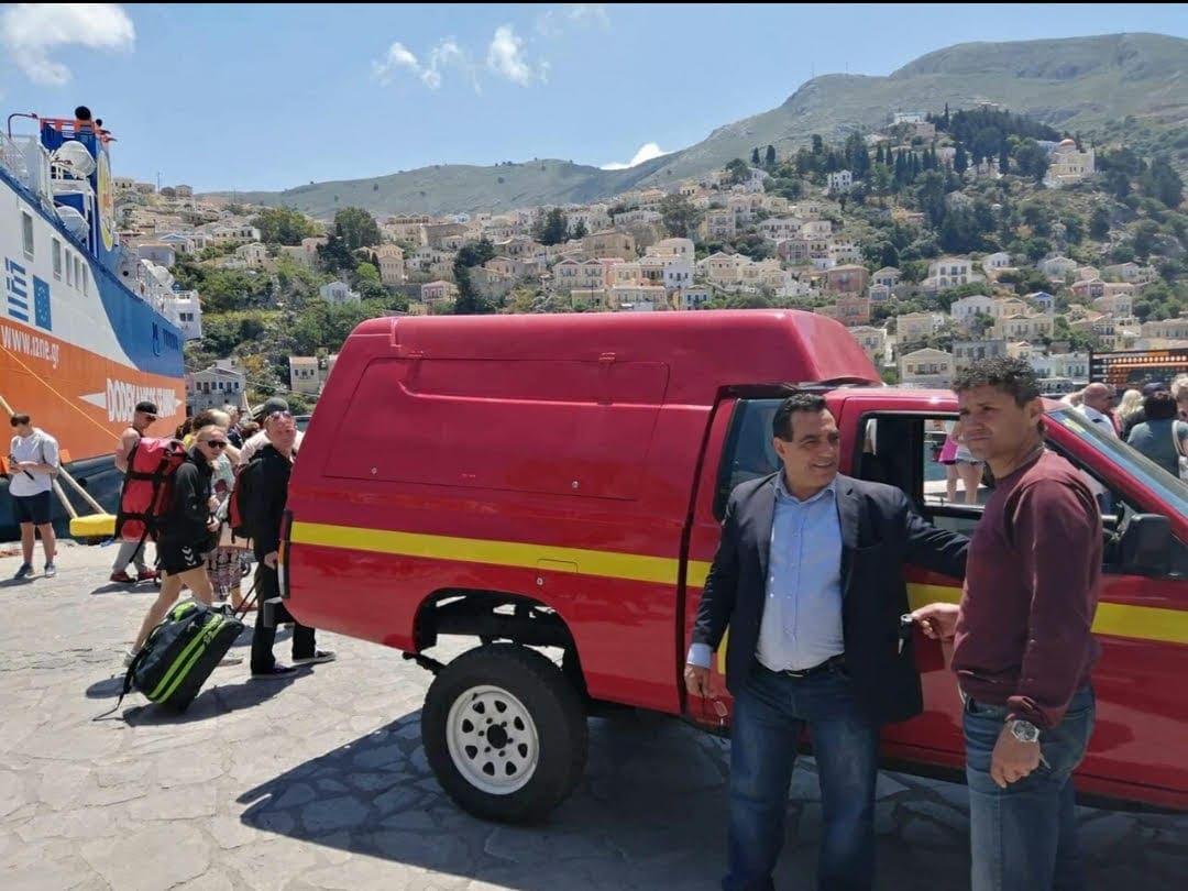 Παράδοση Επισκευασμένου Πυροσβεστικού Οχήματος στον Δήμο Σύμης