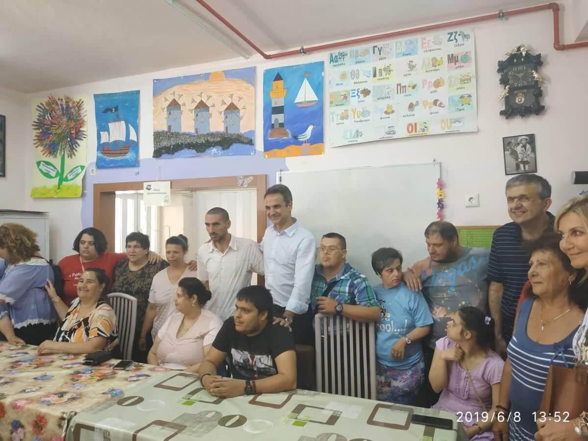 Η επίσκεψη του Κυριάκου Μητσοτάκη στο Κέντρο Ελπίδα