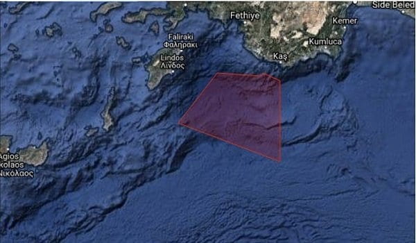 Προκαλεί η Άγκυρα: Εξέδωσε NAVTEX για άσκηση με πραγματικά πυρά μεταξύ Ρόδου – Καστελόριζου