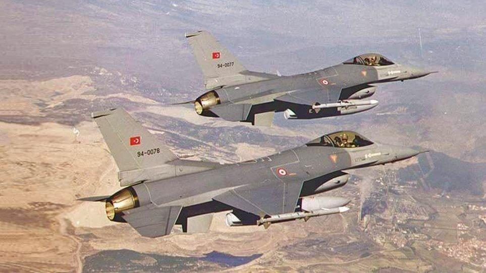 Τουρκικά F-16 πάνω από τρία ελληνικά νησιά στα Δωδεκάνησα