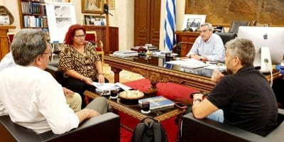 Η διαχείριση των απορριμμάτων και η υποστελέχωση των δήμων, στη συνεργασία του Περιφερειάρχη με τους  δημάρχους Τήλου και Νισύρου