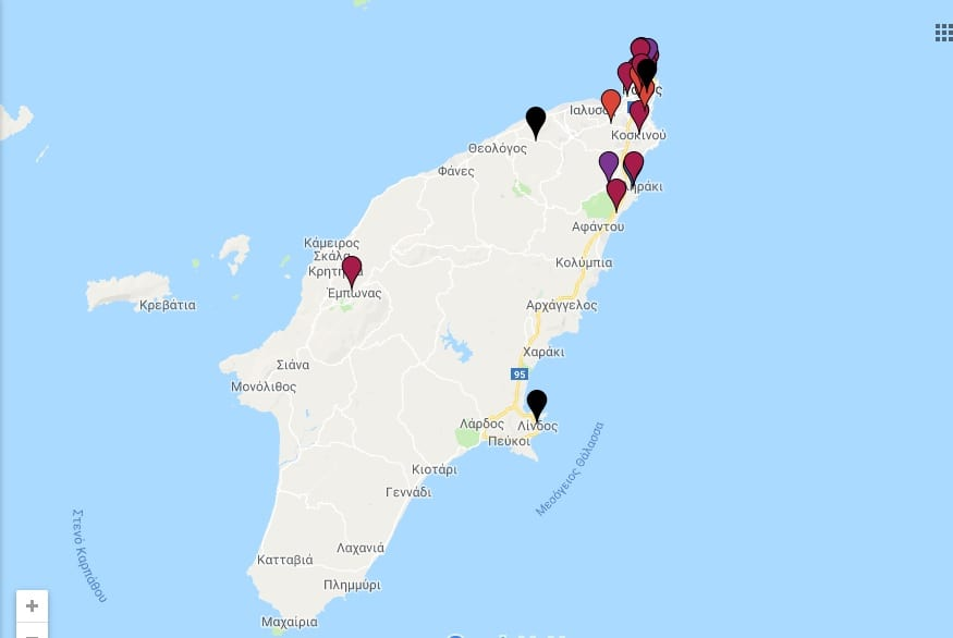 Ο χάρτης των επιθέσεων κατά των γυναικών στην Ελλάδα – 22 περιστατικά στη Ρόδο