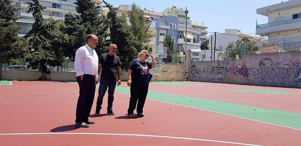 Νέες αναβαθμισμένες αύλειες αθλητικές εγκαταστάσεις στο 7ο Γυμνάσιο Πόλεως.