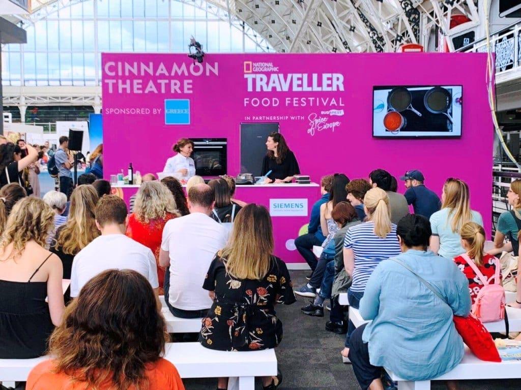Η Περιφέρεια Νοτίου Αιγαίου και η Αργυρώ Μπαρμπαρίγου με το National Geographic Traveller FoodFestival 2019 στο Λονδίνο