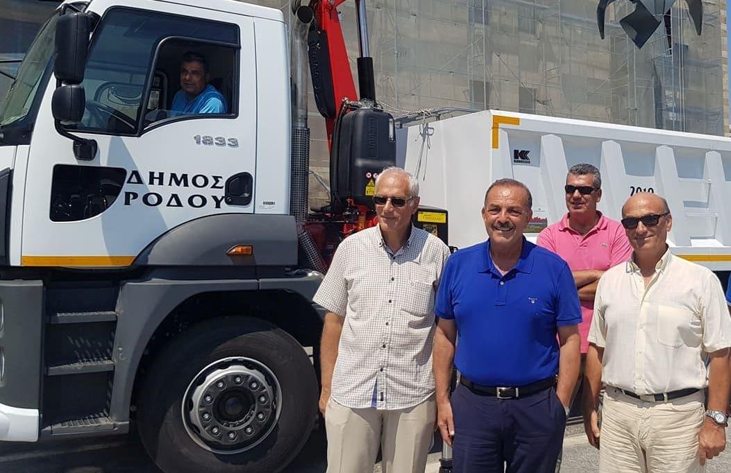 Ενισχύθηκε  ο στόλος του Δήμου Ρόδου με την προμήθεια νέου καλαθοφόρου οχήματος
