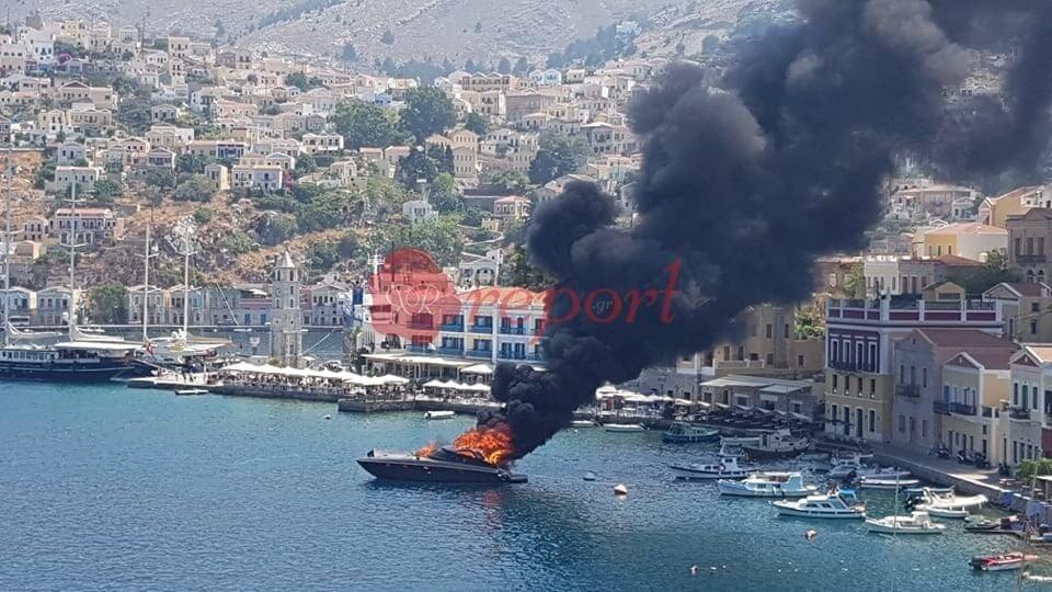 Ανακοίνωση του Λιμενικού για την φωτιά σε σκάφος στην Σύμη