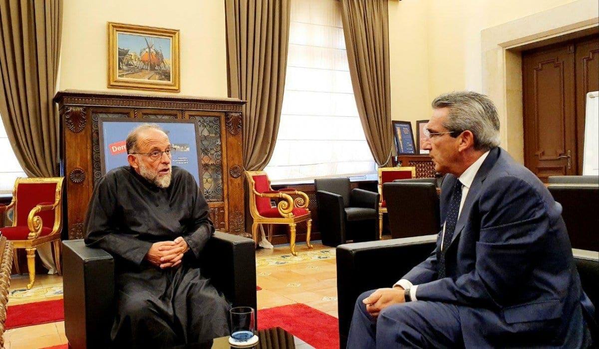 Συνεργασία του Περιφερειάρχη με τον Μητροπολίτη κ. Κύριλλο, για την  αποκατάσταση του Ιερού Ναού Ευαγγελισμού Ρόδου