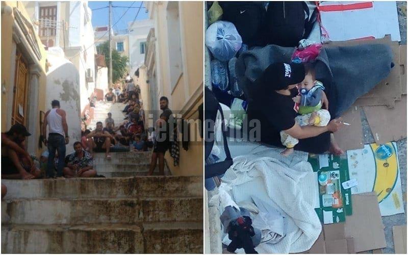 Ασφυκτική η κατάσταση στη Σύμη -150 πρόσφυγες και μετανάστες σε μια ημέρα