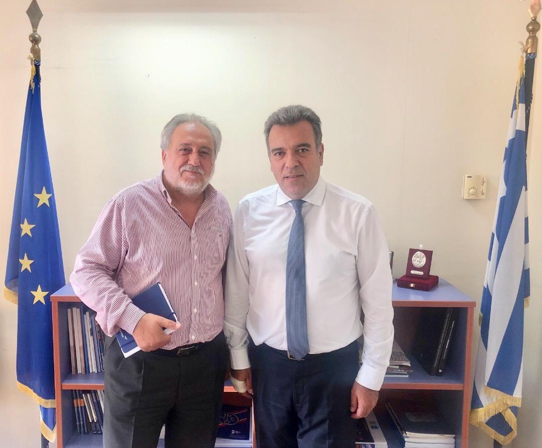 Συνάντηση υφ. Τουρισμού Μάνου Κόνσολα, με τον πρόεδρο της SkyExpress για την αεροπορική σύνδεση των μικρών νησιών