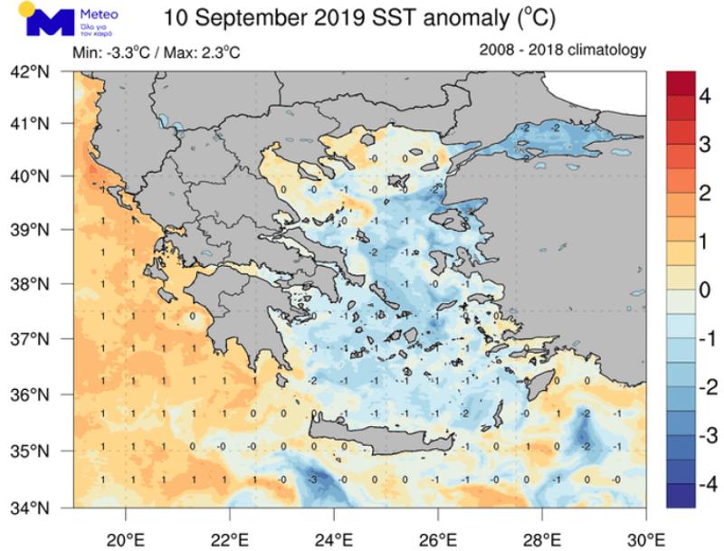 Πιο κρύες οι θάλασσες στο Αιγαίο από ό,τι συνήθως