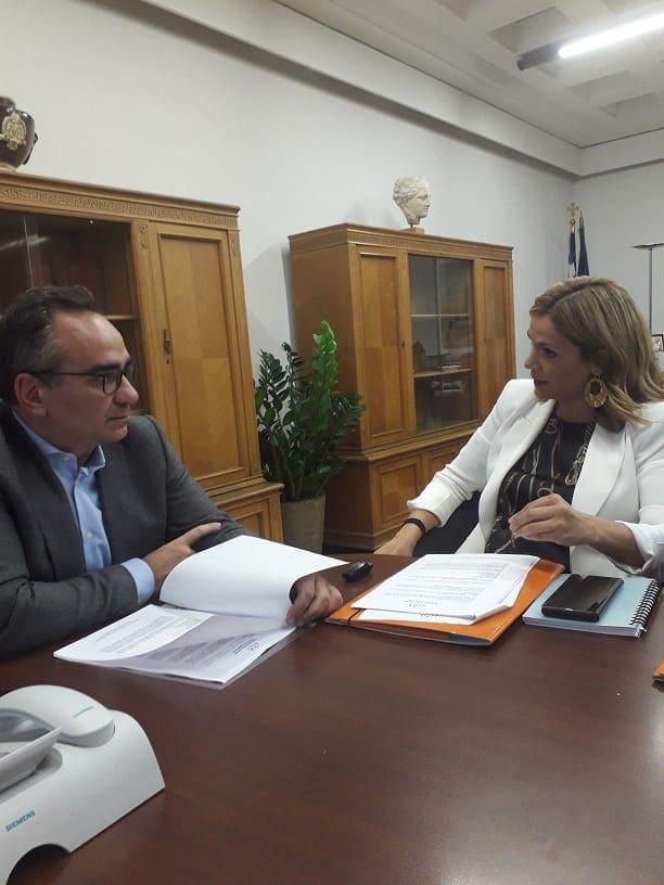 Συνάντηση εργασίας Μίκας Ιατρίδη με τον Υφυπουργό Υγείας, κ. Βασίλη Κοντοζομάνη