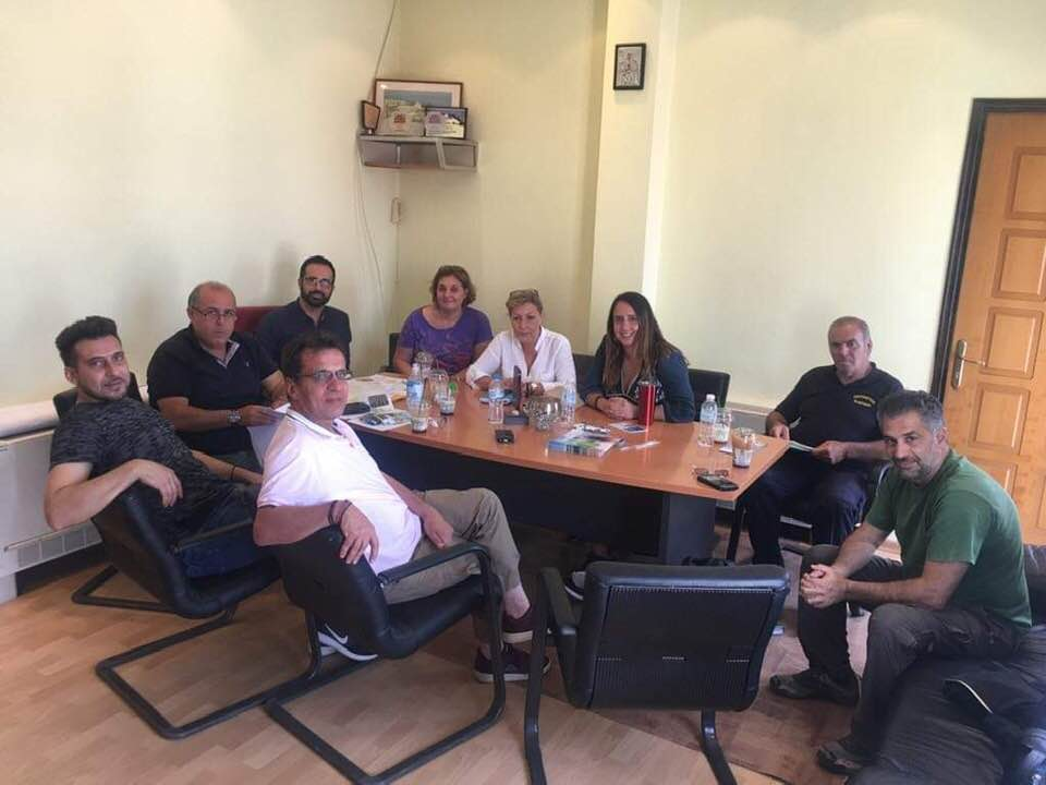 Συνάντηση εργασίας της Χαρούλας Γιασιράνη στον Αρχάγγελο