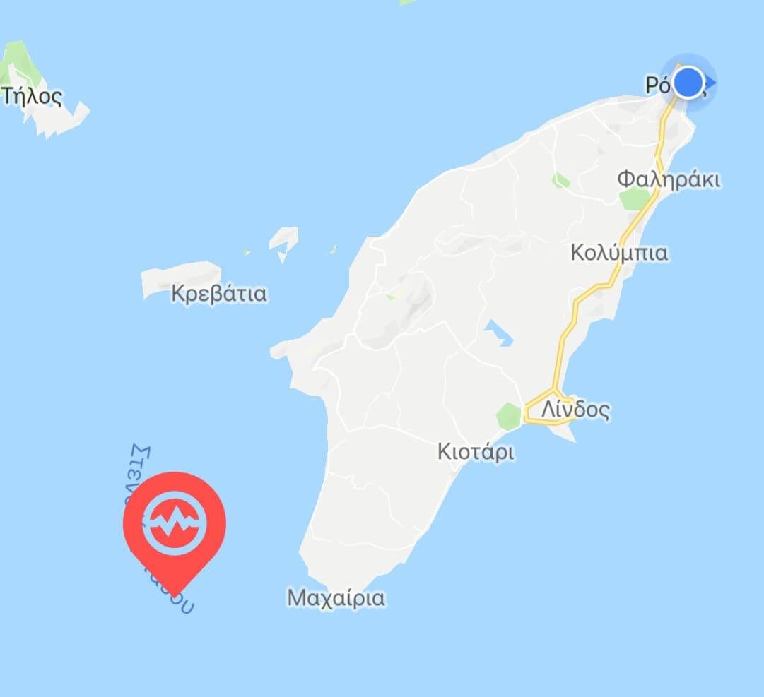 Νέος σεισμός ανάμεσα σε Ρόδο και Κάρπαθο