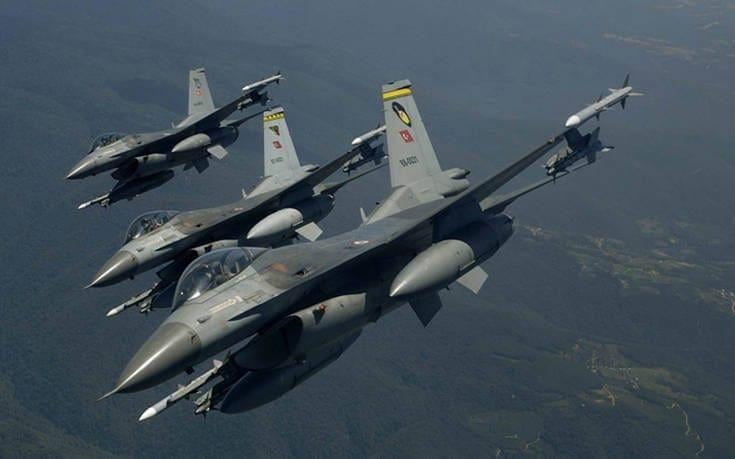 «Όργιο» τουρκικών παραβιάσεων πάνω από το Αιγαίο την Τρίτη