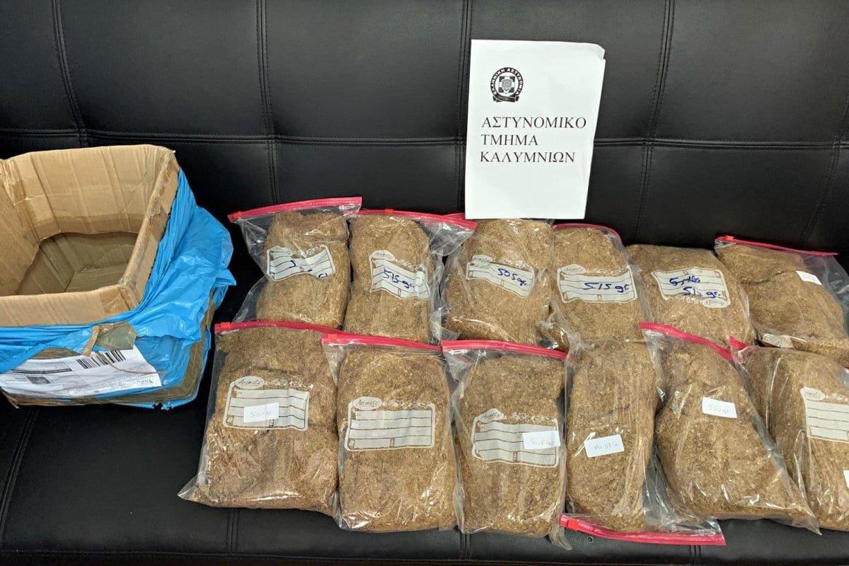 Συνελήφθησαν τρεις ημεδαποί για λαθρεμπόριο καπνικών προϊόντων στην Κάλυμνο