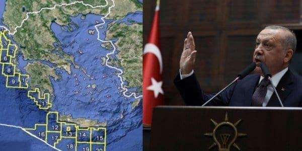 Η Τουρκία βάζει μπροστά τη «Γαλάζια Πατρίδα» και αξιώνει περιοχές δυτικά της Ρόδου
