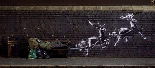 Δείτε το συγκλονιστικό χριστουγεννιάτικο έργο του Bansky (φώτο-βίντεο)