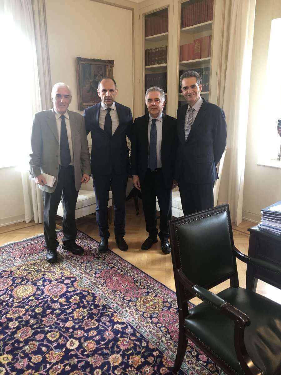 Σύσκεψη στο Μαξίμου, για την καλύτερη λειτουργία του Ινστιτούτου  Αιγαίου του Δικαίου της Θάλασσας της Ρόδου με τον Υπουργό Επικρατείας κ. Γιώργο Γεραπετρίτη, πρωτοβουλία του Βουλευτή Δωδεκανήσου Βασίλη Α. Υψηλάντη