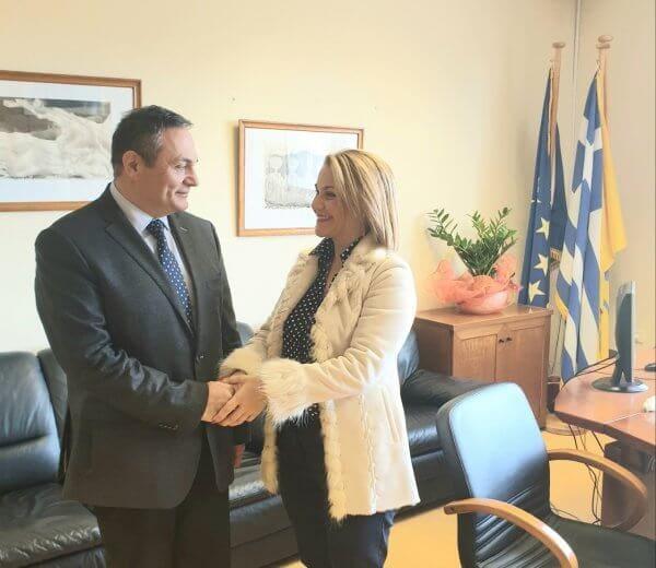 Συνάντηση Μίκας Ιατρίδη με το νέο Διοικητή του Νοσοκομείου Ρόδου