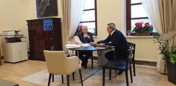 Μακρά συνεργασία του Δημάρχου Ρόδου με τον Περιφερειάρχη Νοτίου Αιγαίου Γιώργο Χατζημάρκο