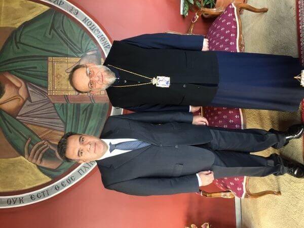 Η ανάπτυξη του θρησκευτικού τουρισμού στο επίκεντρο της συνάντησης του Υφυπουργού Τουρισμού Μ. Κόνσολα με τον Μητροπολίτη Ρόδου