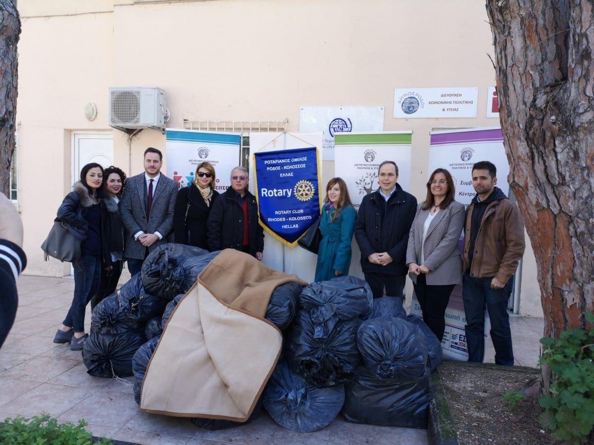 Μια δωρεά καρδιάς πραγματοποιήθηκε  στις δομές της Διεύθυνσης Κοινωνικής Πολιτικής και Υγείας του Δήμου Ρόδου
