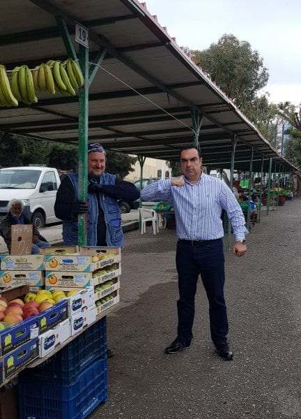 Τη λαϊκή αγορά Αγίου Δημητρίου της Ρόδου επισκέφτηκε μετά από αίτημα των παραγωγών ο Αντιπεριφερειάρχης κ. Γιάννης Φλεβάρης