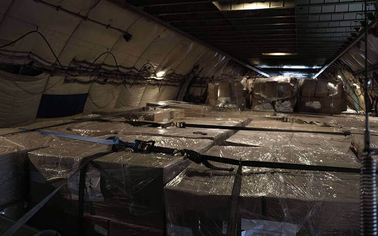 Έφτασαν στην Αθήνα 80 τόνοι υγειονομικού υλικού από την Κίνα