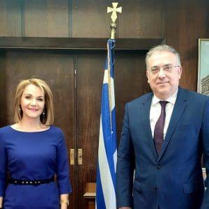 Συνάντηση Μίκας Ιατρίδη με τον Υπουργό Εσωτερικών, Τάκη Θεοδωρικάκο