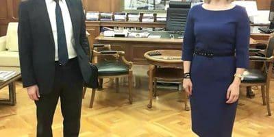 Συνάντηση της Μίκας Ιατρίδη με τον Διοικητή της Τράπεζας της Ελλάδας για τα δάνεια της Συνεταιριστικής Τράπεζας Δωδεκανήσου και την παράταση και χρηματοδότηση των επιταγών