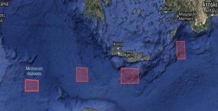 Tέσσερις NAVTEX-πρόκληση από την Άγκυρα! «Δεσμεύει» Κρήτη, Ρόδο, Καστλόριζο