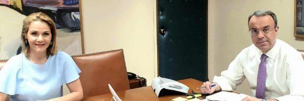 Συνάντηση Μίκας Ιατρίδη με Υπουργό Οικονομικών για τις εποχιακές επιχειρήσεις