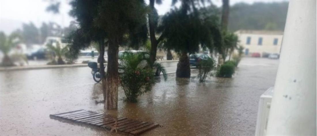 Τεράστιες ζημιές από την κακοκαιρία στην Λέρο (εικόνες)