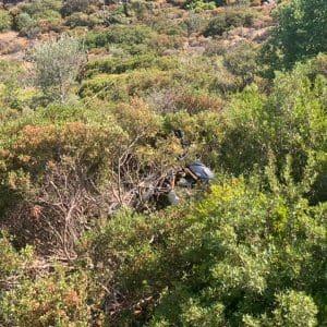 Φωτογραφίες απο το σημείο που έγινε το χθεσινοβραδινό θανατηφόρο τροχαίο
