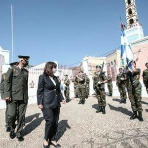 Σακελλαροπούλου: Πολύτιμο κομμάτι της πατρίδας μας το Καστελόριζο