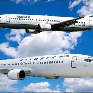 Ακυρώσεις και Τροποποιήσεις πτήσεων της AEGEAN και της Olympic Air στις 18-19 Οκτωβρίου